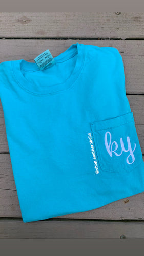 SALE Comfort Color KY or TN Short Sleeve Shirt - The Monogram Shoppe KY