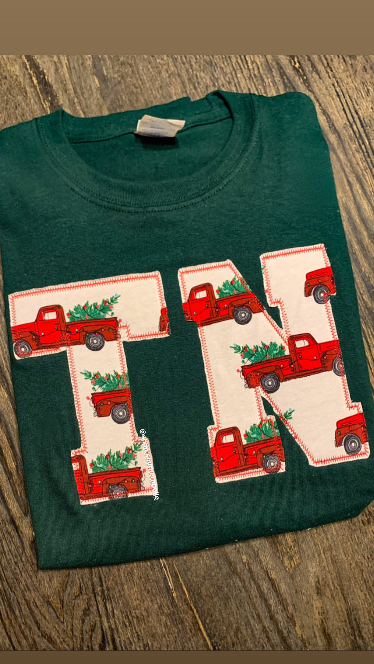 Tennessee Christmas Truck Long Sleeve