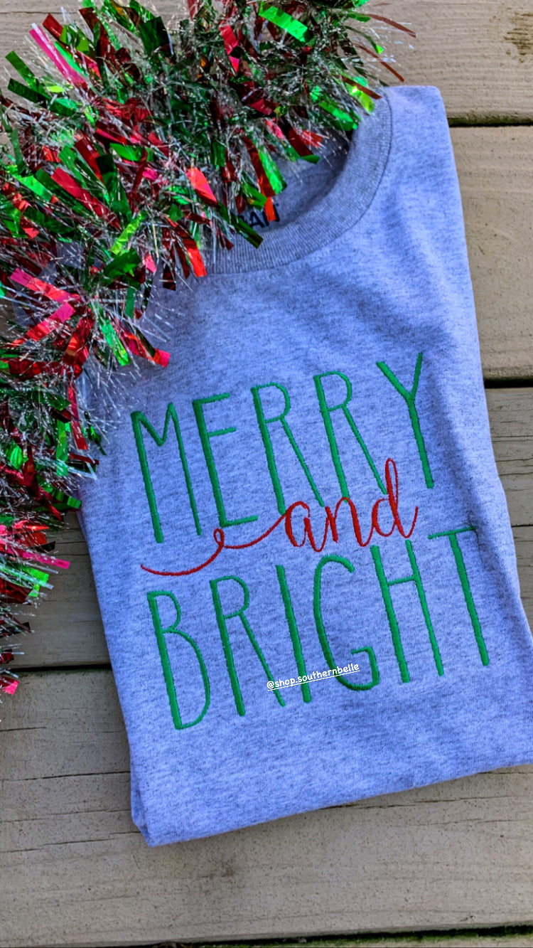 SALE Merry and Bright Short Sleeve T