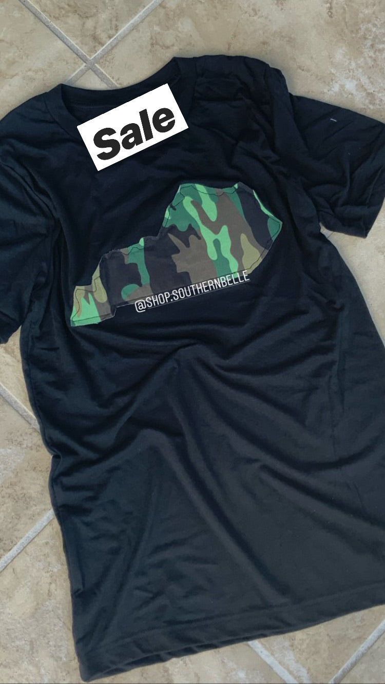 SALE Camo KY Short Sleeve T