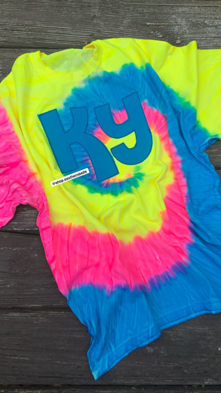 Tie Dye KY Short Sleeve - The Monogram Shoppe KY
