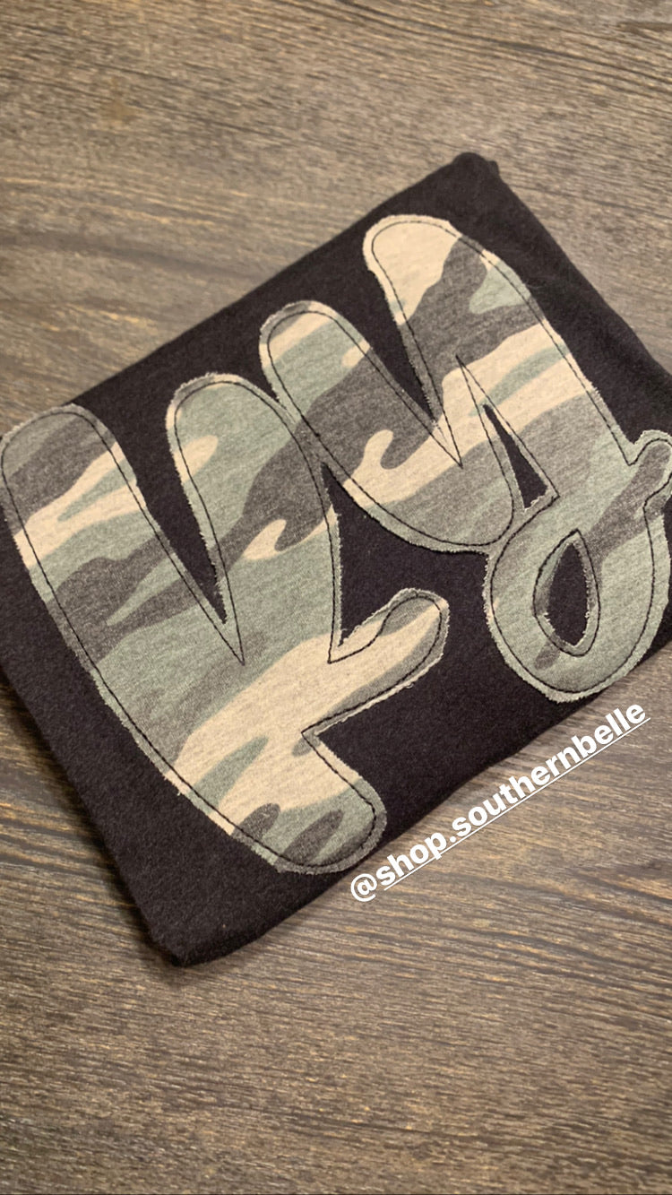 Camo Short Sleeve Soft T - The Monogram Shoppe KY