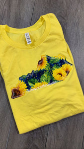 Floral Short Sleeve Soft T -- ANY STATE