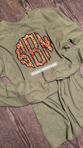 Monogram Long Sleeve - The Monogram Shoppe KY