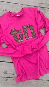 Pink Cheetah Long Sleeve -- ANY STATE
