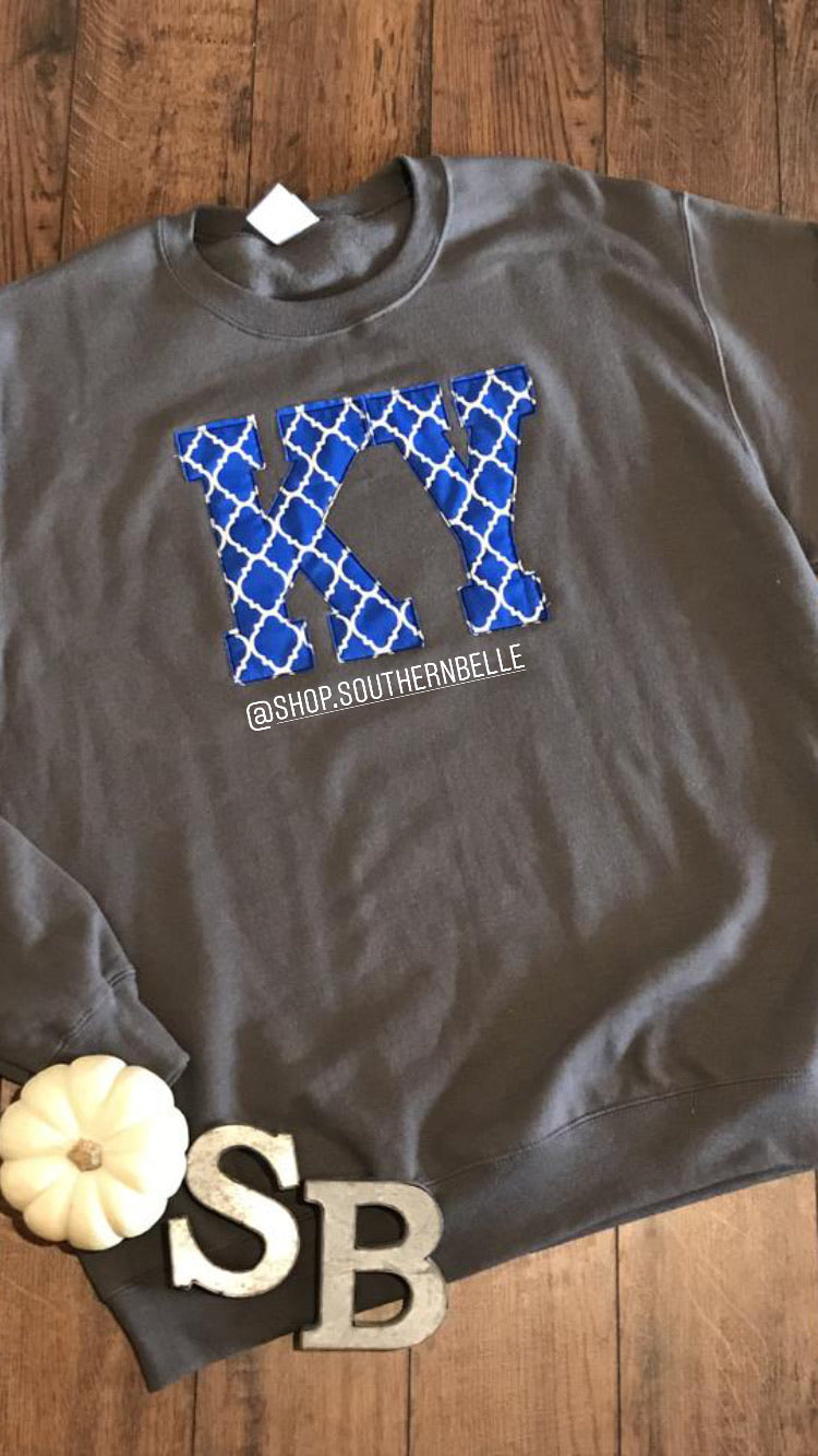 Kentucky Quartrefoil Sweatshirt - The Monogram Shoppe KY