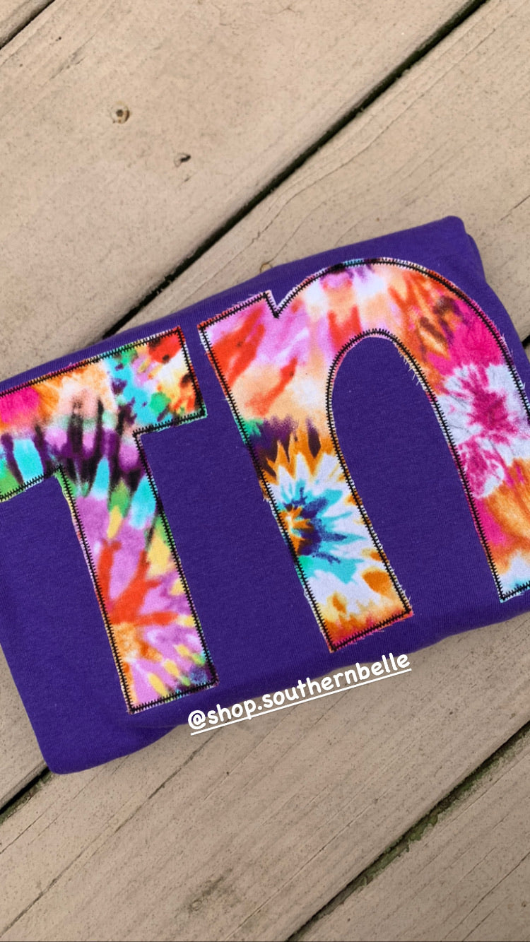 Purple Tie Dye TN Long Sleeve