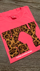 Comfort Color Leopard KY Short Sleeve - The Monogram Shoppe KY