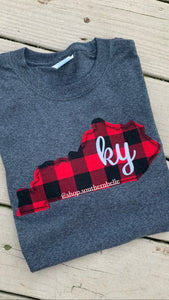 KY Buffalo Plaid Sweatshirt