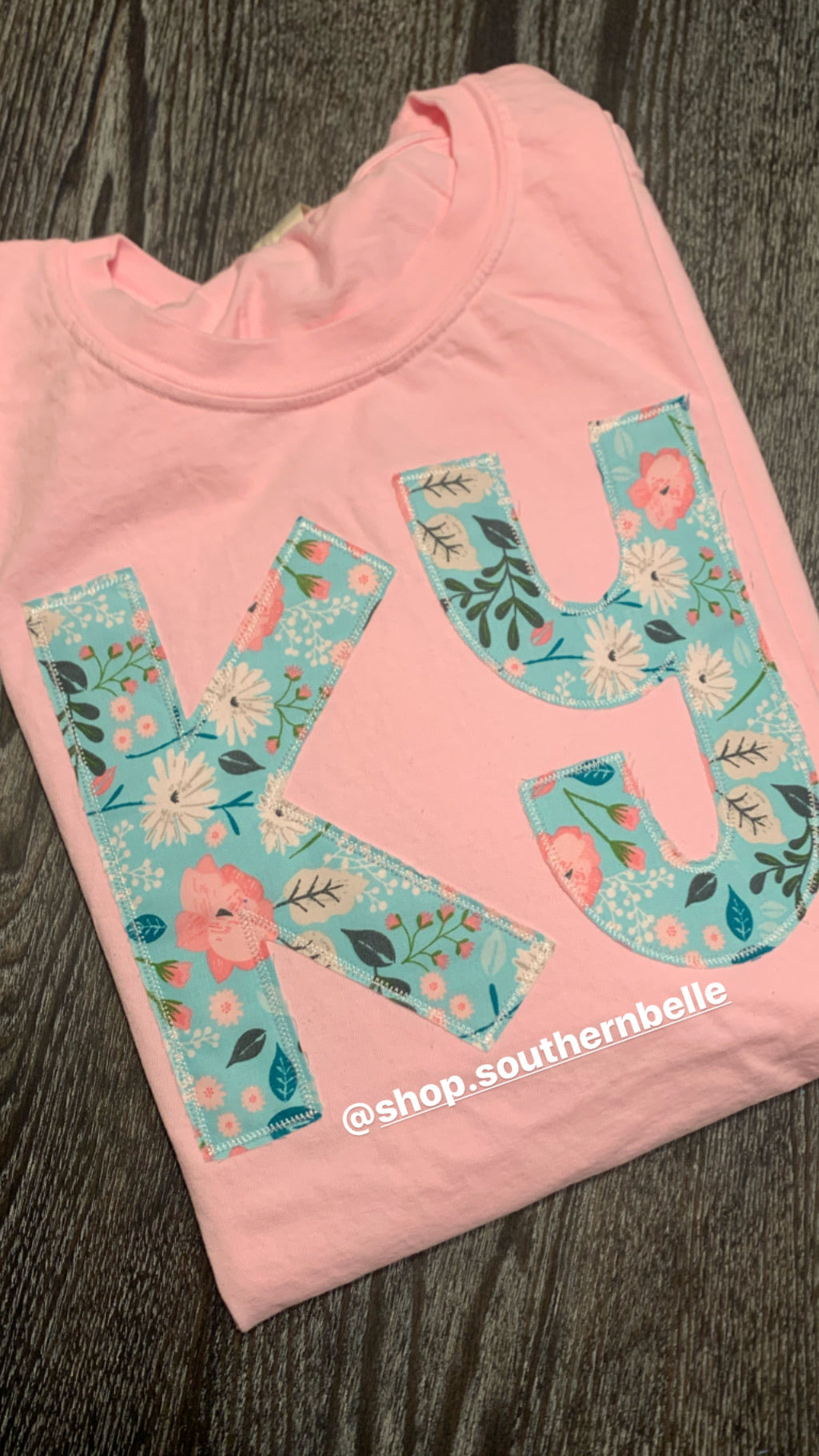 Comfort Color Floral KY Short Sleeve - The Monogram Shoppe KY