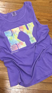 Comfort Color Tie Dye KY Tank - The Monogram Shoppe KY