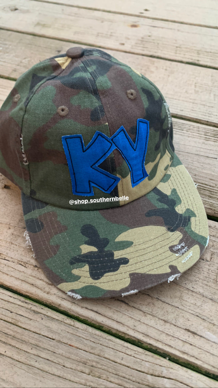 KY Distressed Hat - The Monogram Shoppe KY