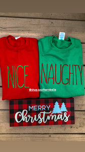 NAUGHTY Christmas Sweatshirt
