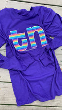 Load image into Gallery viewer, RTS Purple Stripe TN Long Sleeve