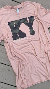 Camo Short Sleeve Soft T -- ANY STATE