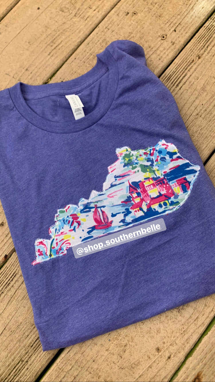 Watercolor KY Short Sleeve Soft T - The Monogram Shoppe KY