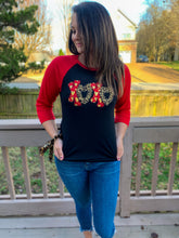 Load image into Gallery viewer, XOXO Valentines Day Heart Raglan