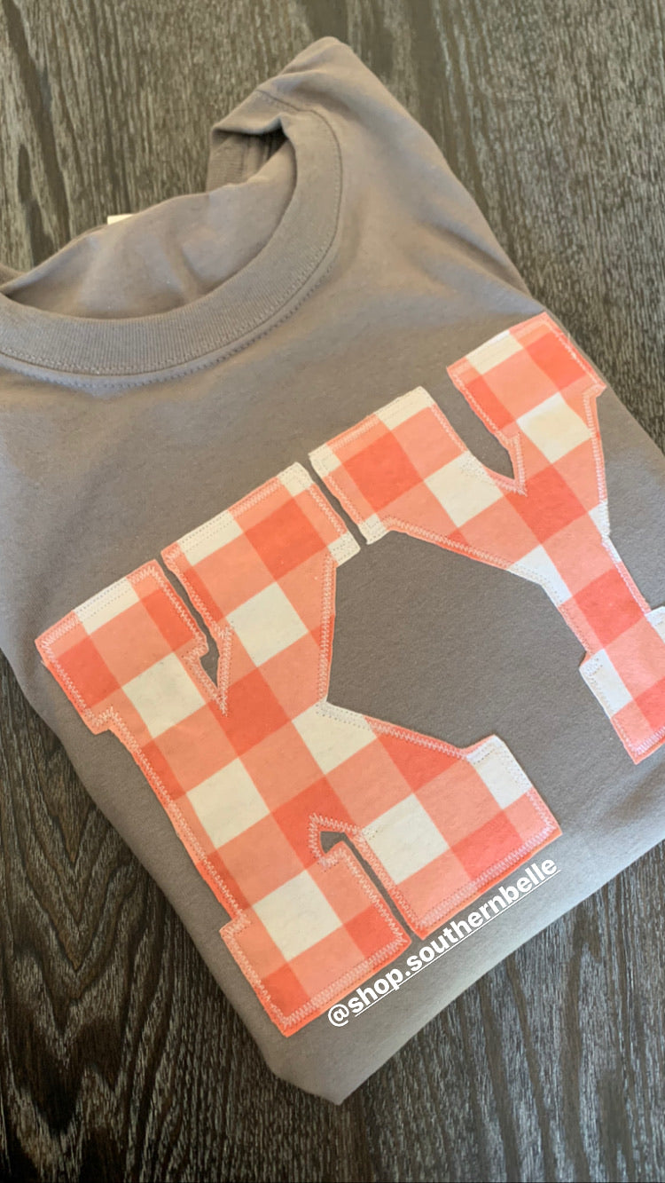 Coral Plaid Short Sleeve - The Monogram Shoppe KY