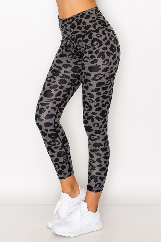 Black/Grey Leopard Print Leggings