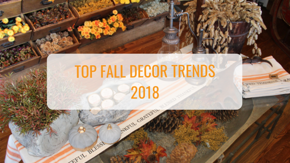 Top Fall Decor Trends For 2018