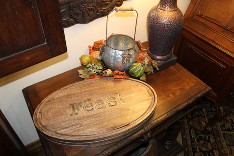 Feast fall serving platter at Ski Country Antiques