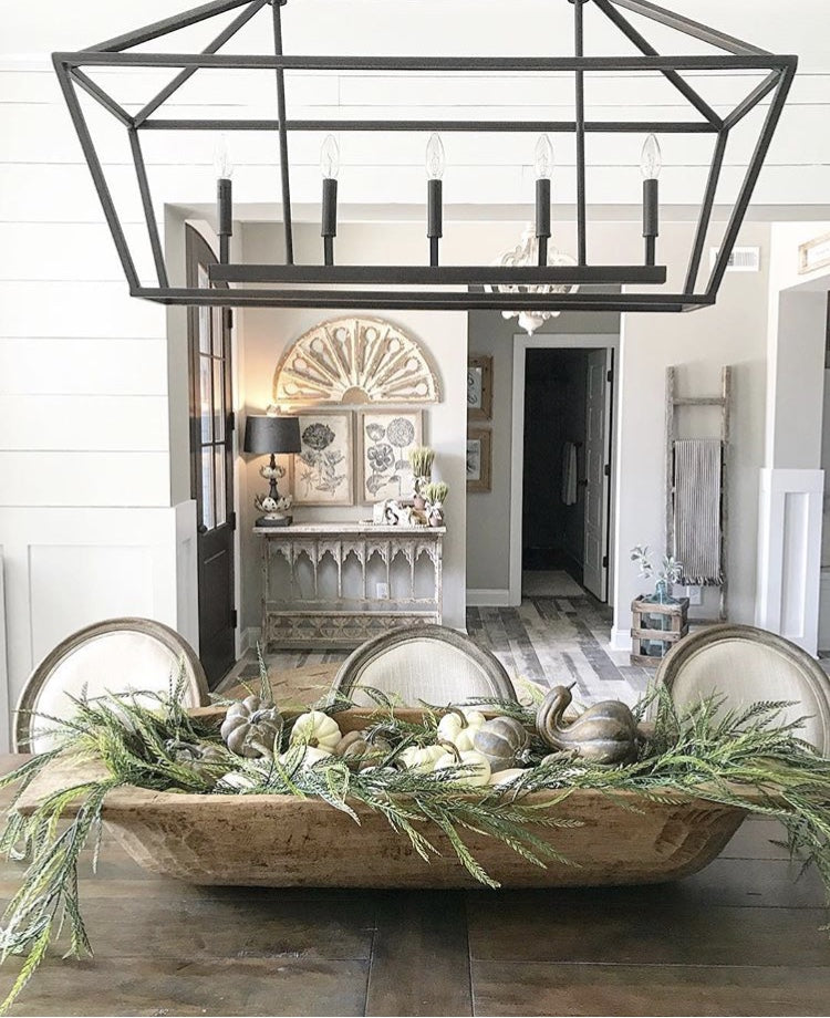 decorating with dough bowl as centerpiece