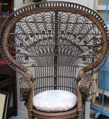 antique chair fancy ski country