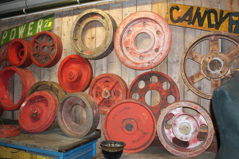 european antique wheels colorful ski country