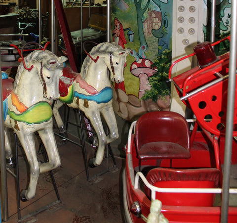 antique carousel horses ski country