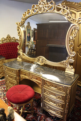 european gold antique dressing table ski country antiques