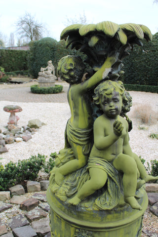 moss covered statuary in netherlands ski country antiques