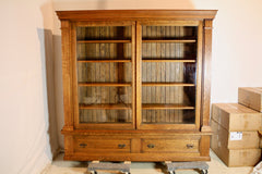 antique furniture restoration bookshelf after