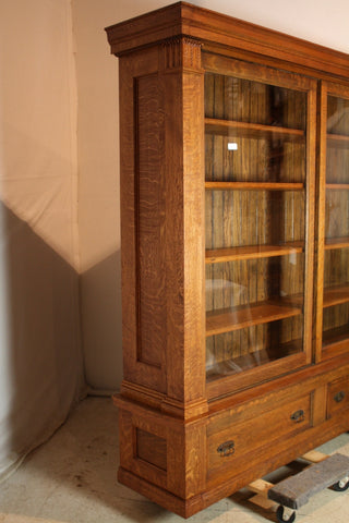 how to repair antique furniture bookshelf after
