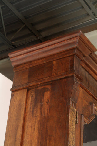 Antique restoration fashioned and replaced top molding