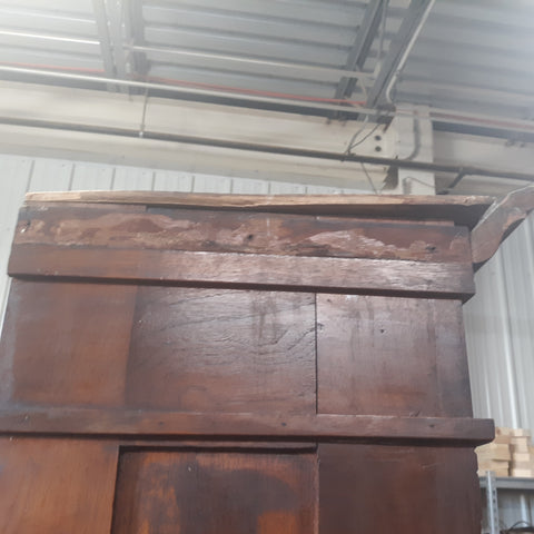 antique restoration cabinet missing top molding