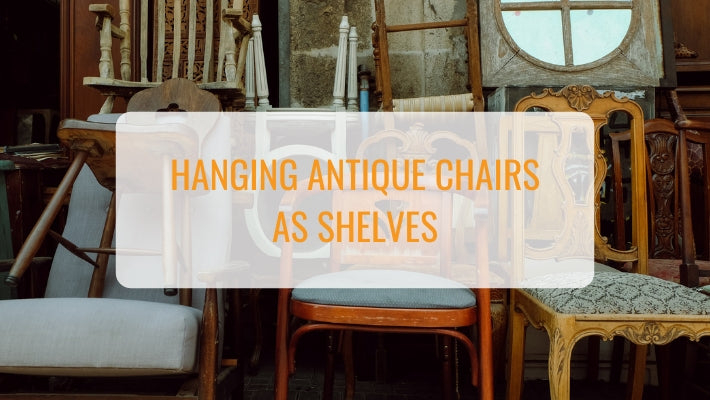 hanging antique chairs as shelves - ski country antiques