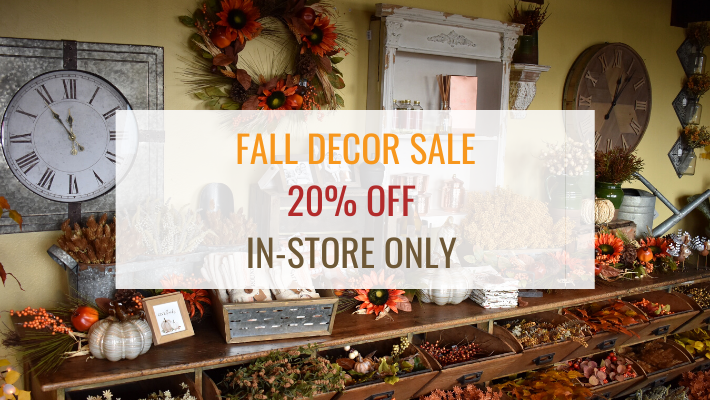 20% off in our fall sale