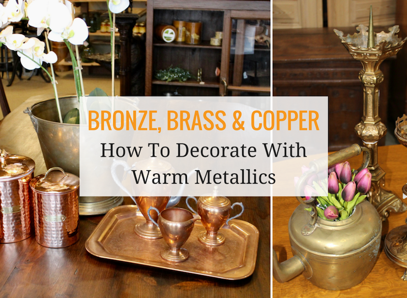 Decorating With Bronze, Brass & Copper Antiques - Ski Country ...