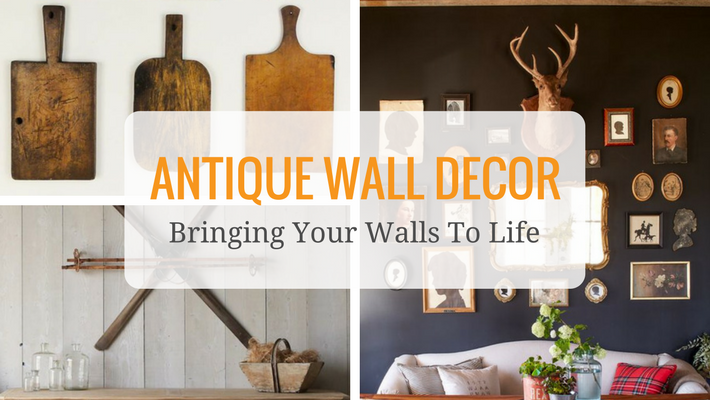 "Custom graphic that says: ""Antique wall decor: bringing your walls to life"""