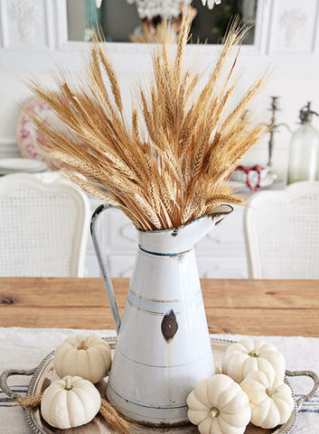 Farmhouse Decor with dried wheat