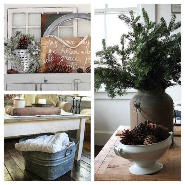 Winter decorating after Christmas