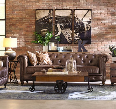 cozy industrial style seating