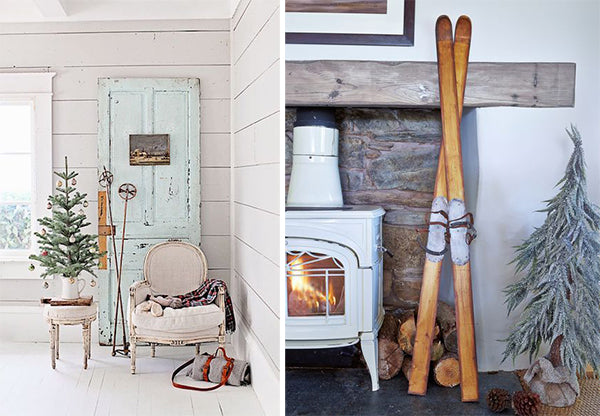 Antique ski decor