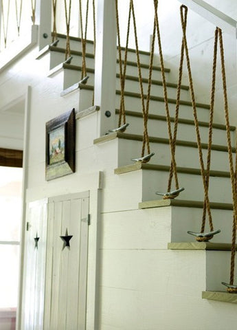 nautical rope as a staircase railing