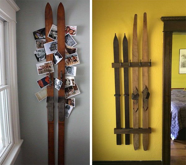Antique skis repurposed