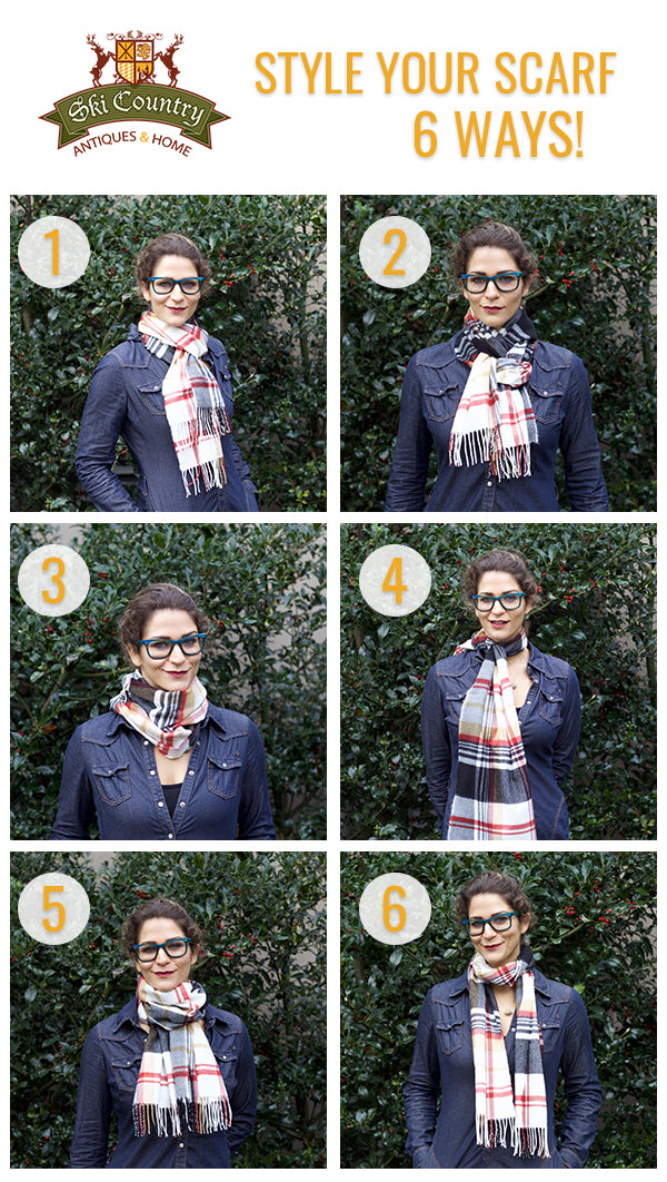 How to tie a scarf 6 ways