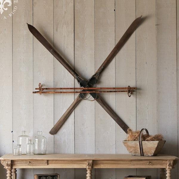 hang antique skis