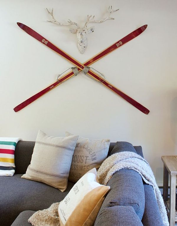 Antique ski with mount