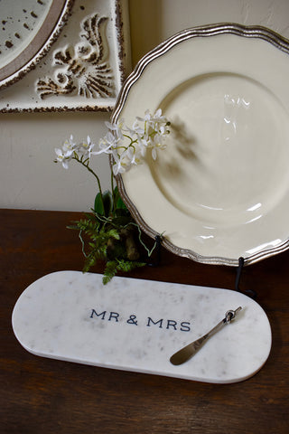 mr and mrs engraved cheeseboard - ski country