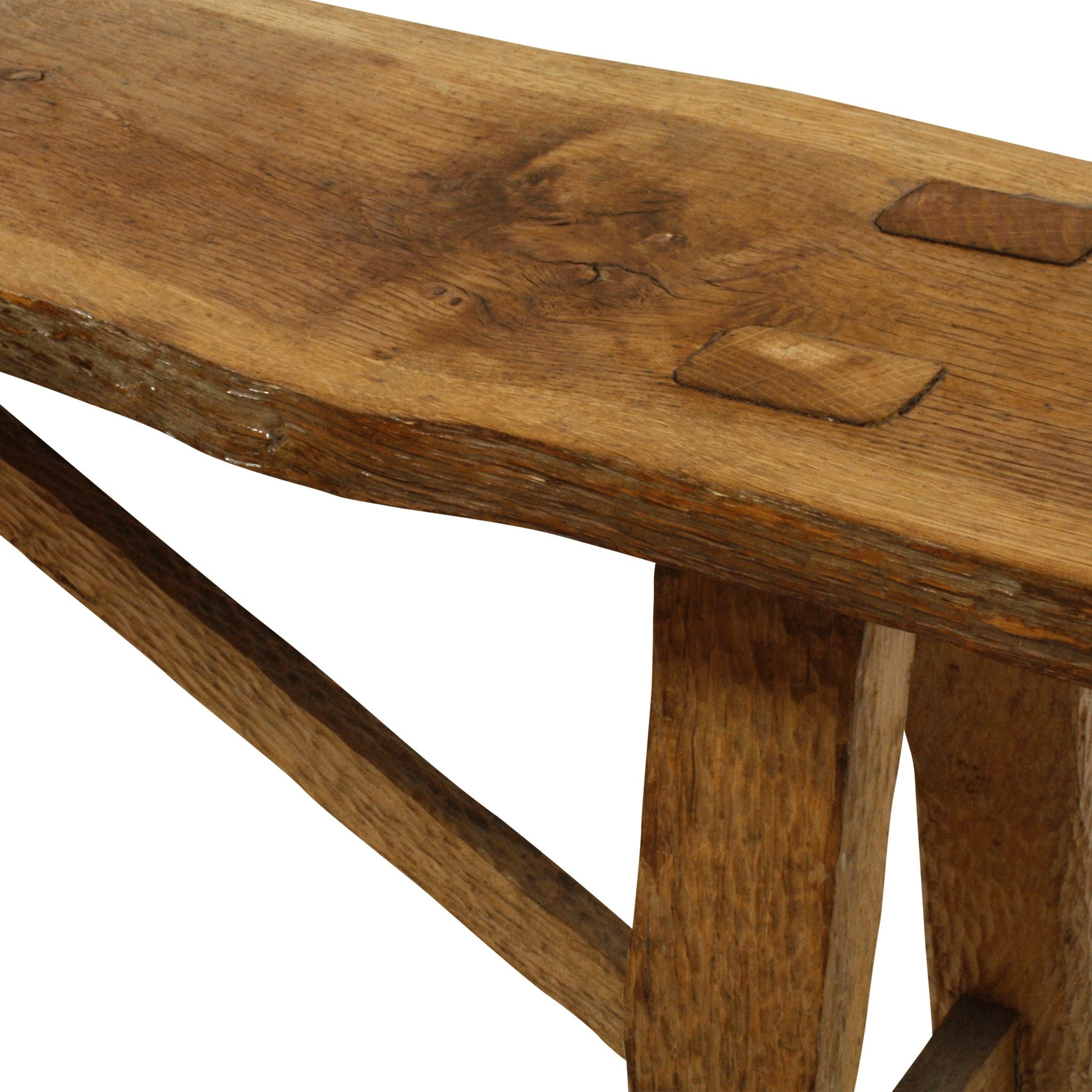 Rough Cut Wood Bench